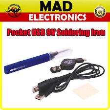 Protable Pocket USB 9V battery Soldering Iron with Ultra Bright LED