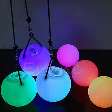 LED Multi-Colored POI Glow Thrown Balls Light Up For Belly Dance Hand Props