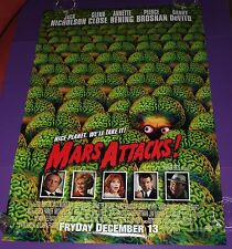 MARS ATTACKS MOVIE POSTER ORIGINAL ONE SHEET ROLLED