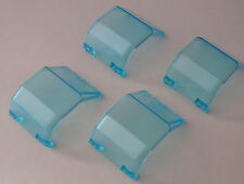Lego 4 parebrises bleu trans 4549 6482 6387 6642 / 4 trans light blue windscreen