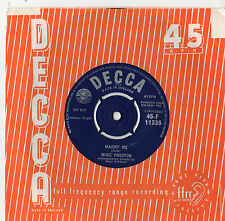 "Mike Preston - Marry Me 7"" Single 1961"