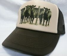 Cow Farmer Trucker Hat mesh Hat Snap Back Hat tan/brown