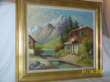 *Gunner Svensson*Listed Artist Original Oil On Canvas Landscape Painting