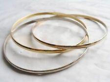 bracelet bijou vintage rigide triple couleur or et argent *4395