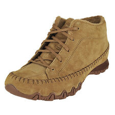 Skechers Bikers-Totem Pole Brown Womens Ankle Hi Boot Size 7.5M