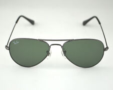 Ray Ban RB3044 Aviator Small W3100 Gunmetal frame Green Lenses  Sunglasse 52mm