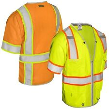 USA BRAND Hi Vis High Viz Visibility Vest CLASS 3 HEAVY DUTY SAFETY VEST