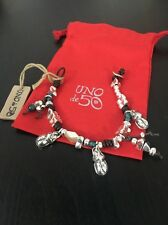 Uno De 50 Beaded Charm Leather Bracelet - Almost Nothing - New Collection