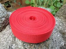 10 Meters Red 38mm Nylon Webbing Tape