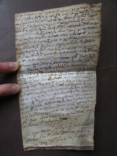 Manoscritto Pergamena Atto Notarile 1604 Diritto Completa