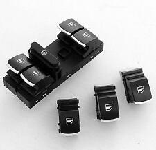 Chrome Master Window Switch For PANEL VW Passat GOLF JETTA MK5 MK6 Touran Tiguan