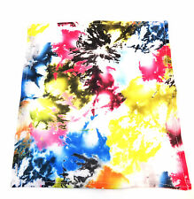 UNIQUE MENS  TIE DYE ABSTRACT COLORFUL HIPPY POCKET SQUARE BRAND NEW (A16)