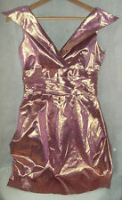 Kate Fearnley Boutique Metallic Pink Mini Party Dress UK 8