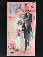 Vintage 1963 Bridal Doll Box Wedding Paper Dolls Whitman Uncut