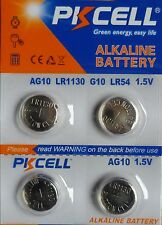 4 PILES LR1130 / AG10 / LR54 / 189 / 1,5V ALKALINE-ENVOI RAPIDE