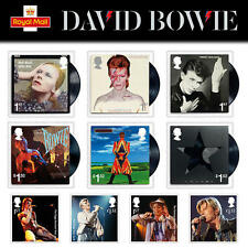 2017 David Bowie New Issue. Complete set x 10 values. Superb unmounted mint.