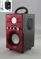 LETTORE MP3 SISTEMA 2.1 RADIO/USB/SD/AUX 1 MICROFONO - AH239K -AHB0239K ROSSO