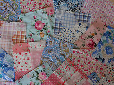 "50 x 6"" 100% Cotton Fabric Remnant Bundle patchwork squares~ Quilting"