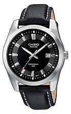 Casio Collection Herren Uhr Armbanduhr Leder Analog schwarz BEM-116L-1AVEF