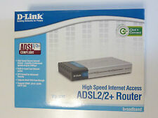 D-link DSL-524T ADSL2+ Modem Router 4-Port Switch 10/100 Mbps DSL-524T