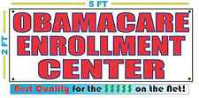 OBAMACARE ENROLLMENT CENTER Banner Sign NEW Best Quality Tax Health Insurance
