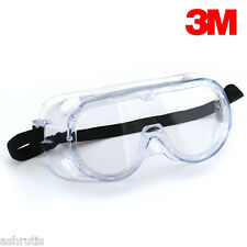 Original Safety Splash Goggles Clear Anti Fog Lens/ 3M Safety Glass