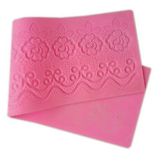 Silicone Cake Lace Mat Mold Fondant Decorating Wedding Flower Embossing Mould