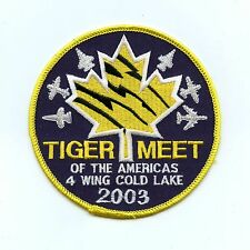 RCAF CAF Canadian NATO Tigers Meet 2003 4 Wing Cold Lake Colour Crest Patch