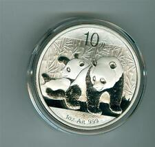 CHINA 2010 10 YUAN 1 OZ. .999 SILVER PANDA GEM BU WITH ORIGINAL CAPSULE NO SPOTS