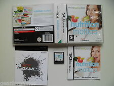 NINTENDO DS PAL GAME NUTRITION MATTERS  TESTED