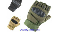 Hunting Tactical Fingerless Gloves Military Sniper Outdoor Sports Olive Medium