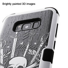 For Samsung GALAXY S8 PLUS Hybrid Rugged Shockproof Protective Case Cover Skull
