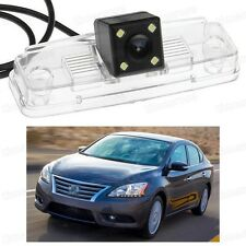 4 LED Car Rear View Camera Reverse Backup CCD fit for Nissan Sentra 2008-2014
