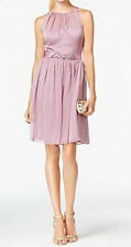 Adrianna Papell New Belted Chiffon Halter Dress Size 6 MSRP $159 #AP 2/6