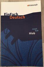 """Einfach Deutsch """"Hiob"""" von Joseph Roth 978-3-14-022555-7"""