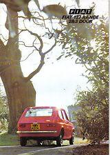 Fiat 127 2-door 3-door & De Luxe 1973-74 Original UK Sales Brochure