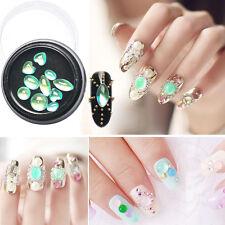10pcs DIY Mixta Rueda Verde ópalo Decoración Uñas Manicura Nail Art