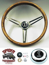 "1965-1969 Mustang steering wheel WALNUT COBRA 15"" Grant steering wheel"