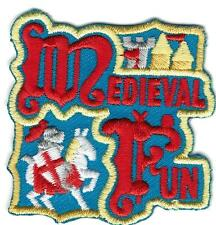 Girl Boy Cub MEDIEVAL FUN Blue Patches Crests Badges SCOUT GUIDES Renaissance