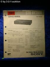Sony Service Manual STR AV200E Receiver  (#1901)