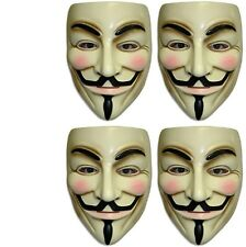 V For Vendetta - Mask - Set of 4 Units Pieces - Adult - Guy Fawkes - Anonymous