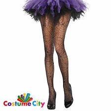 Adults Womens Spider Web Net Tights Halloween Fancy Dress Costume Accessory