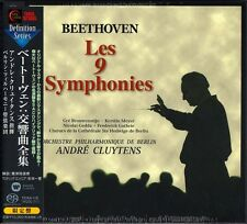 Japan 5 X SACD/CD Hybrid Set BEETHOVEN Les 9 Symphonies ANDRE CLUYTENS Berlin LE