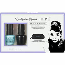 OPI Breakfast At Tiffany's Nail Polish Duo Pack With Cosmetic Bag Holiday 2016