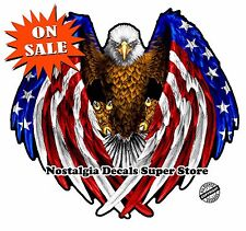 American Flag Eagle Wings Reflective Decal 5.5""
