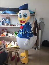 New Donald Duck Mascot Costume Halloween Fancy Dress Free Shipping Adult Size