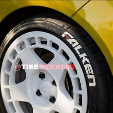 "Tire Stickers FALKEN w/ Red Dash - 1.25"" For 14"" 15"" 16""  Wheels - (4 decals)"