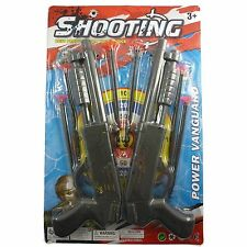 Kids Toy Shotgun Set with Plastic Shooting Darts Toy Set & Halloween Accessory