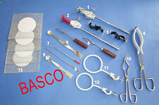 CLAMPS BEAKER CRUCIBLE Tong Test Tube Holder Spatula Utility Tool Kit By BASCO