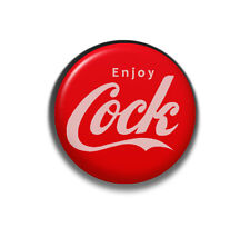 Enjoy Cock Button Badge Pin - 2.5cm 1 inch NEW Hen Night Stag